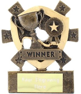 "Winner Mini Shield Award 8cm (3.25"")"