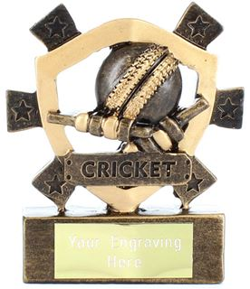 "Cricket Mini Shield Award 8cm (3.25"")"