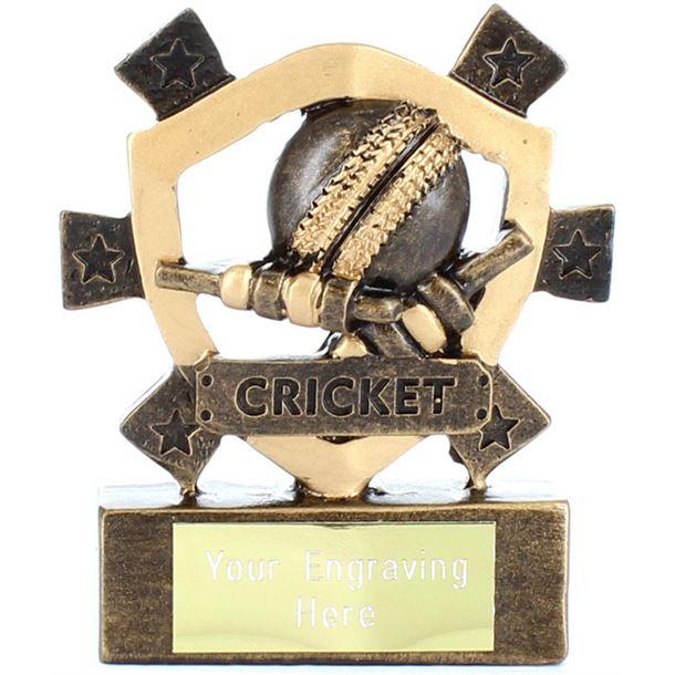 "Cricket Mini Shield Award 8cm (3.25"")"
