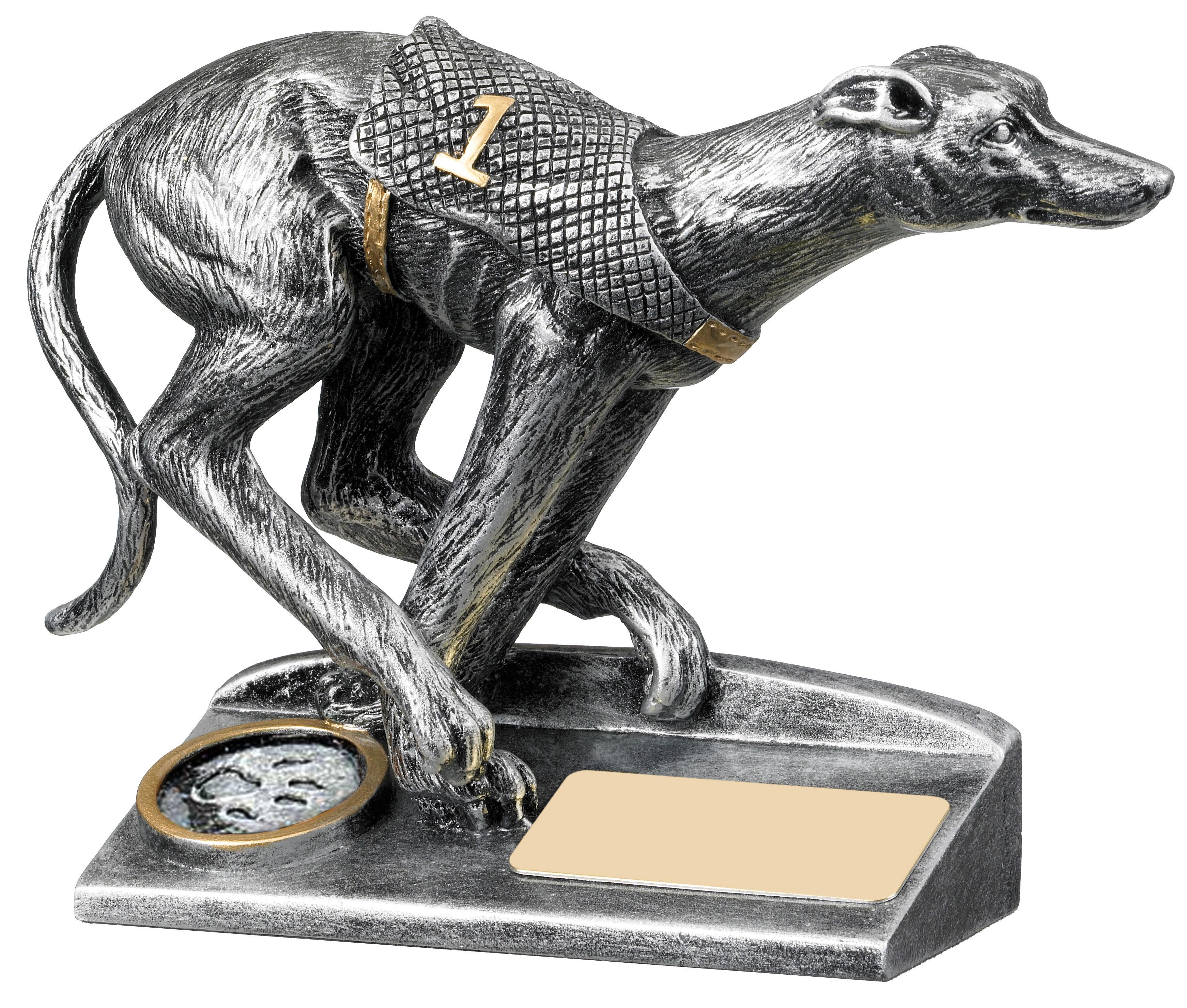 "Antique Silver Greyhound Racing Trophy 12.5cm (5"")"
