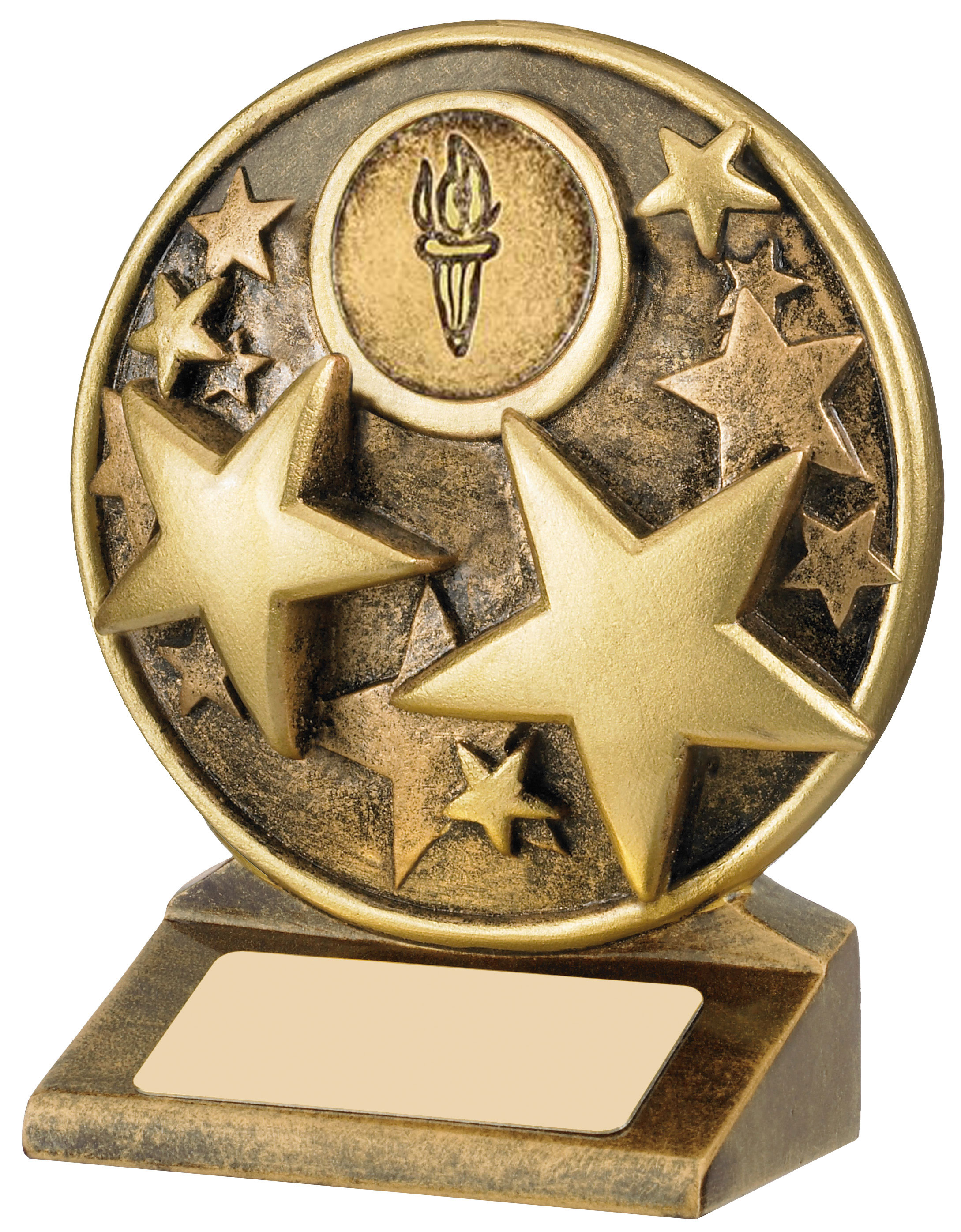 "Round Gold Resin Multi Star Trophy 11cm (4.25"")"