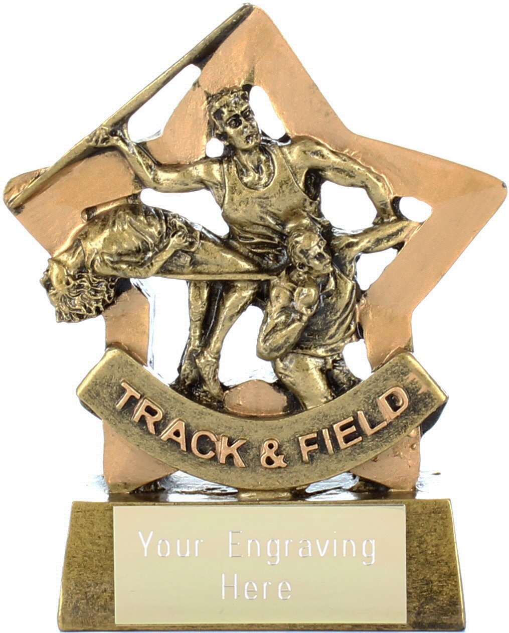 "Resin Mini Star Track & Field Award Trophy 8.5cm (3.25"")"