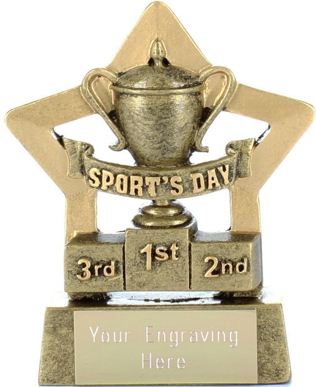 "Mini Stars Sports Day Award 8.5cm (3.25"")"