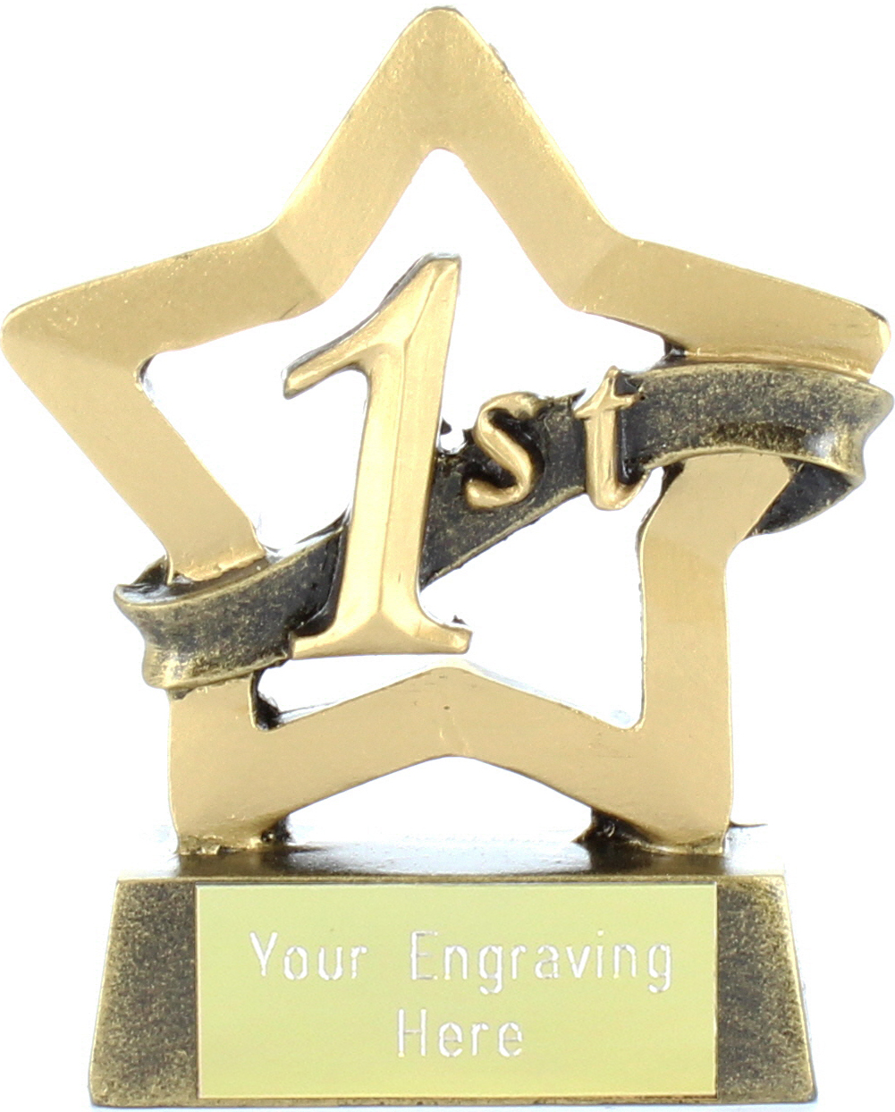 "Mini Stars 1st Place Award Trophy 8.5cm (3.25"")"