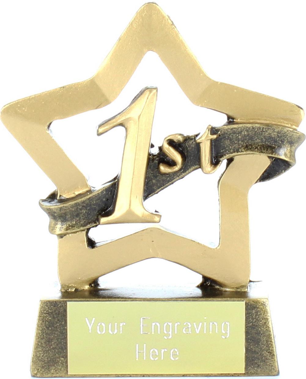 "Mini Stars 1st Place Award Trophy 8.5cm (3.25"")"