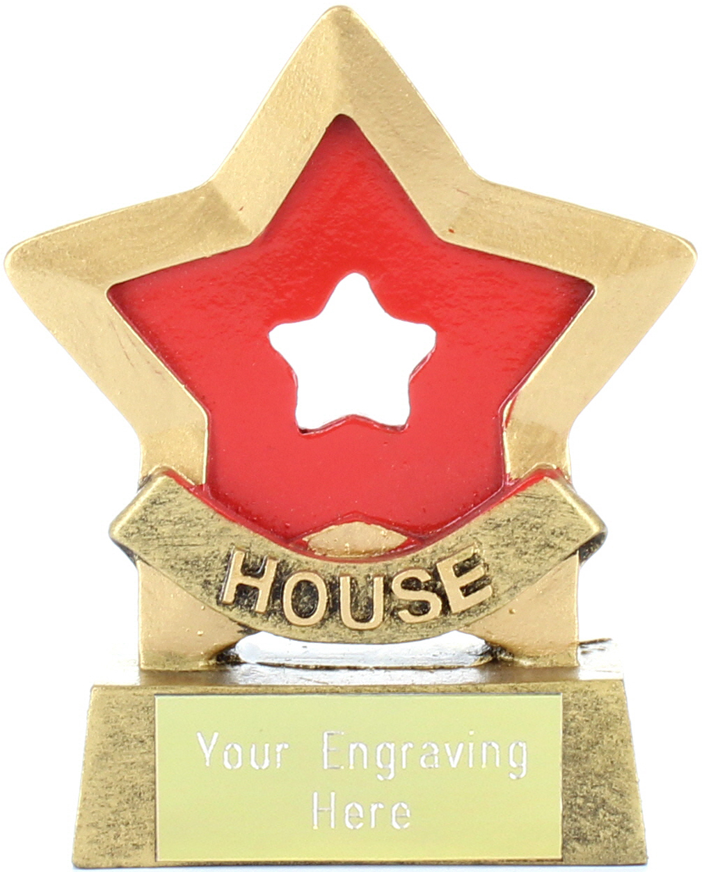 "Red Mini Star Award House Colours 8.5cm (3.25"")"