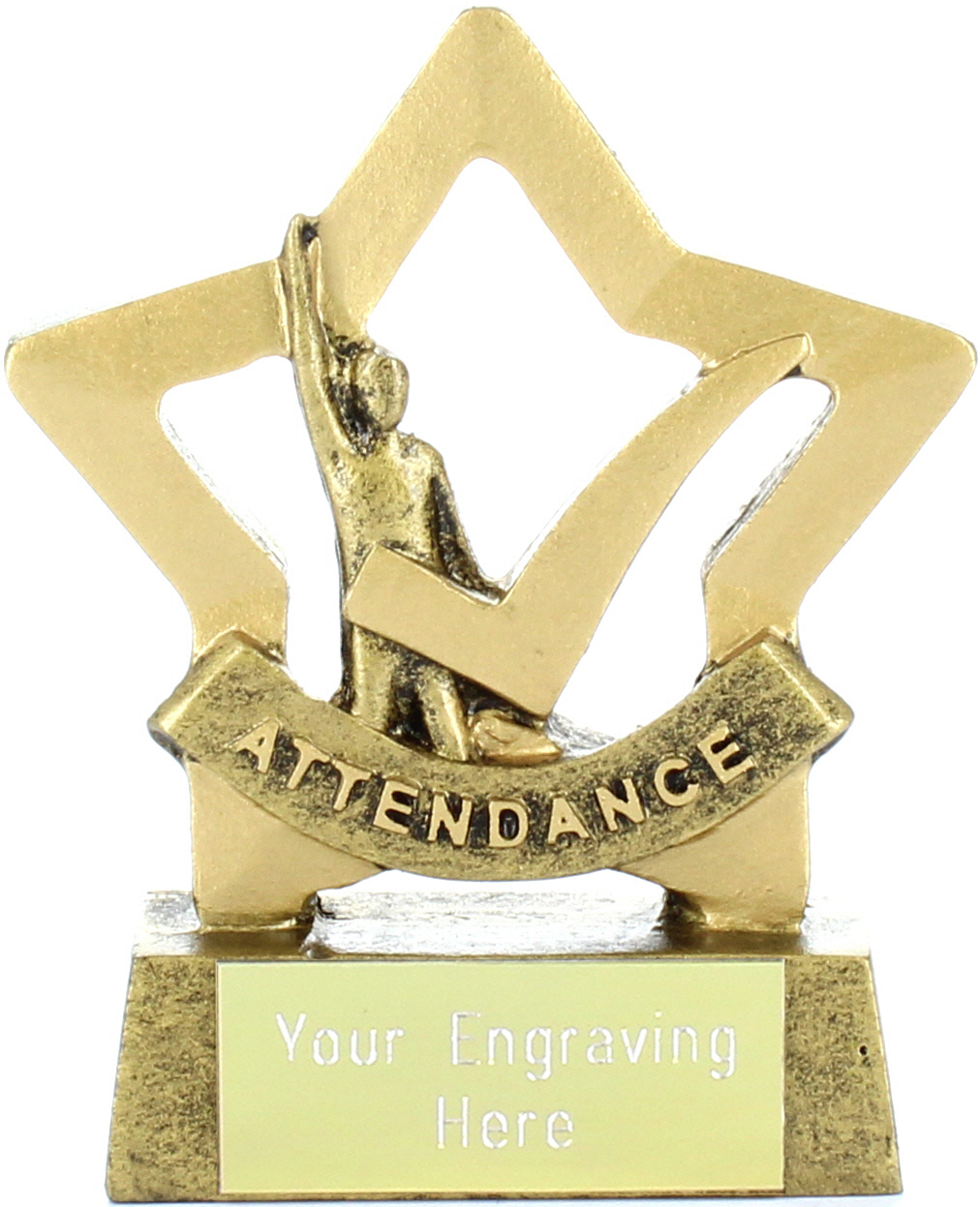 "Mini Stars Attendance Award Trophy 8.5cm (3.25"")"