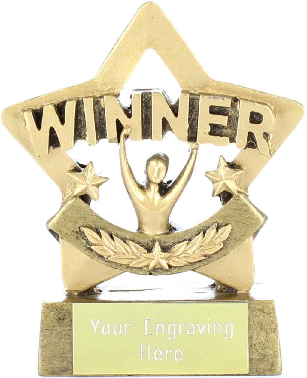 """Mini Stars Winner Award 8.5cm (3.25"""")"""