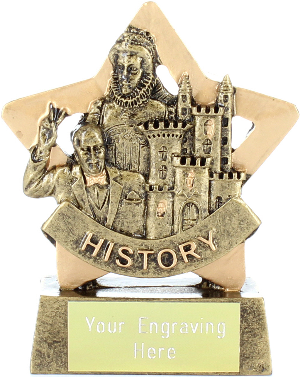 "Resin Mini Star History Award Trophy 8.5cm (3.25"")"