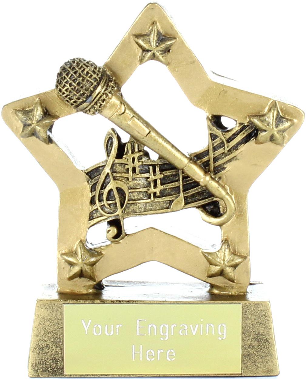 "Music & Microphone Mini Star 8.5cm (3.25"")"