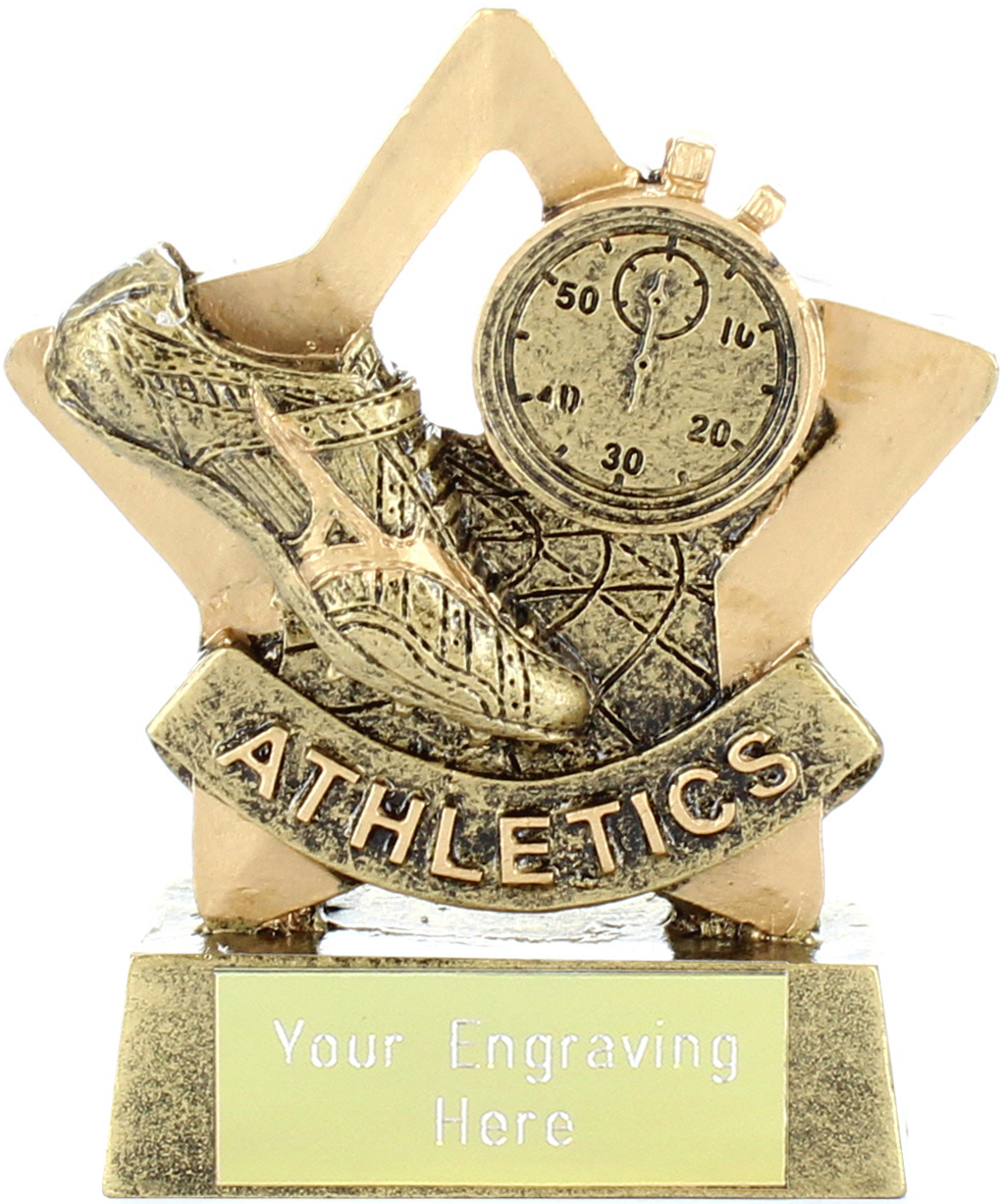 "Mini Star Athletics Shoe Trophy 8.5cm (3.25"")"