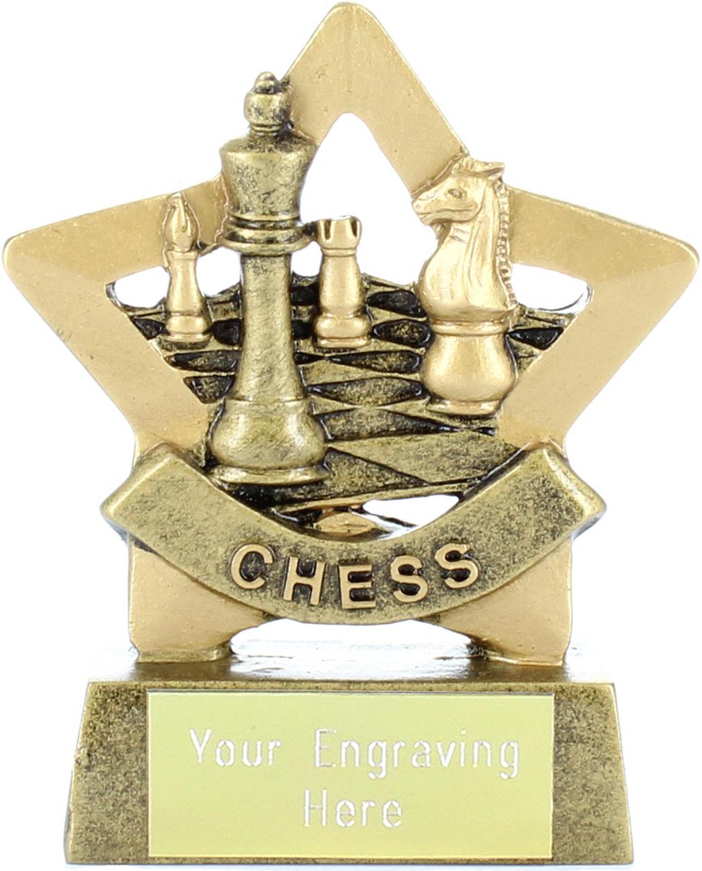 "Mini Stars Chess Award Trophy 8.5cm (3.25"")"