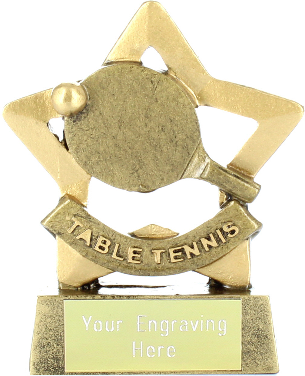 "Mini Stars Table Tennis Trophy 8.5cm (3.25"")"