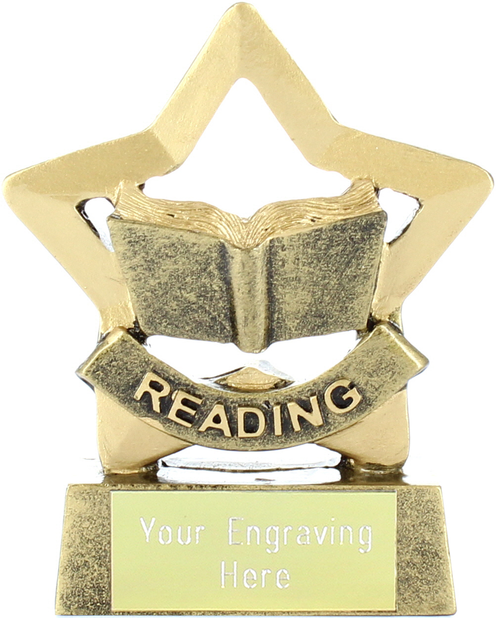 "Mini Stars Reading Award Trophy 8.5cm (3.25"")"