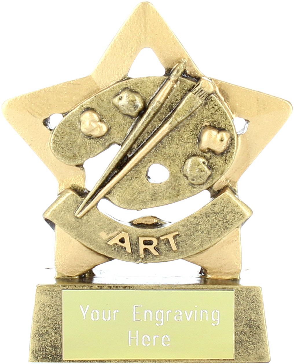 "Mini Stars Art Award Trophy 8.5cm (3.25"")"
