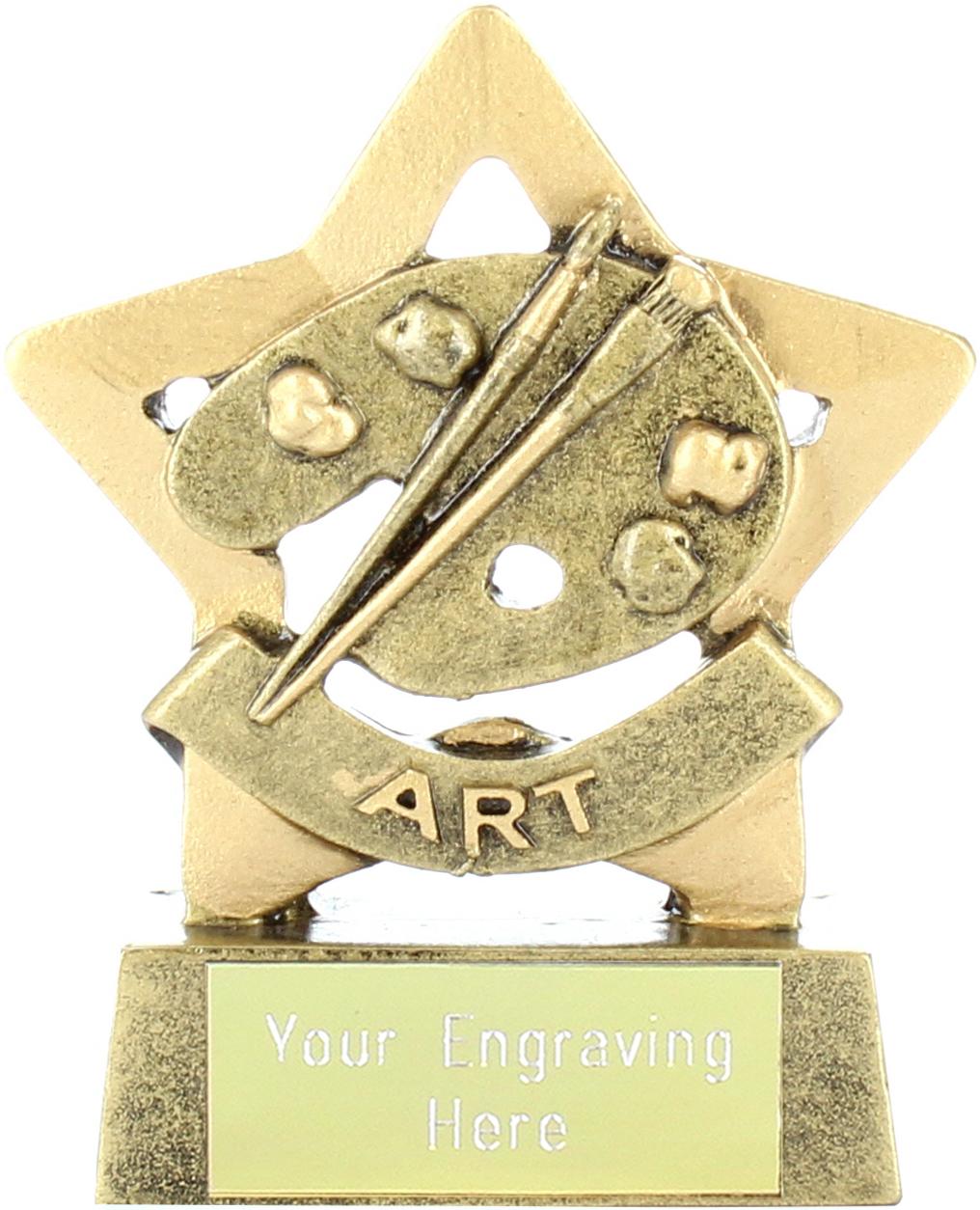 """Mini Stars Art Award Trophy 8.5cm (3.25"""")"""