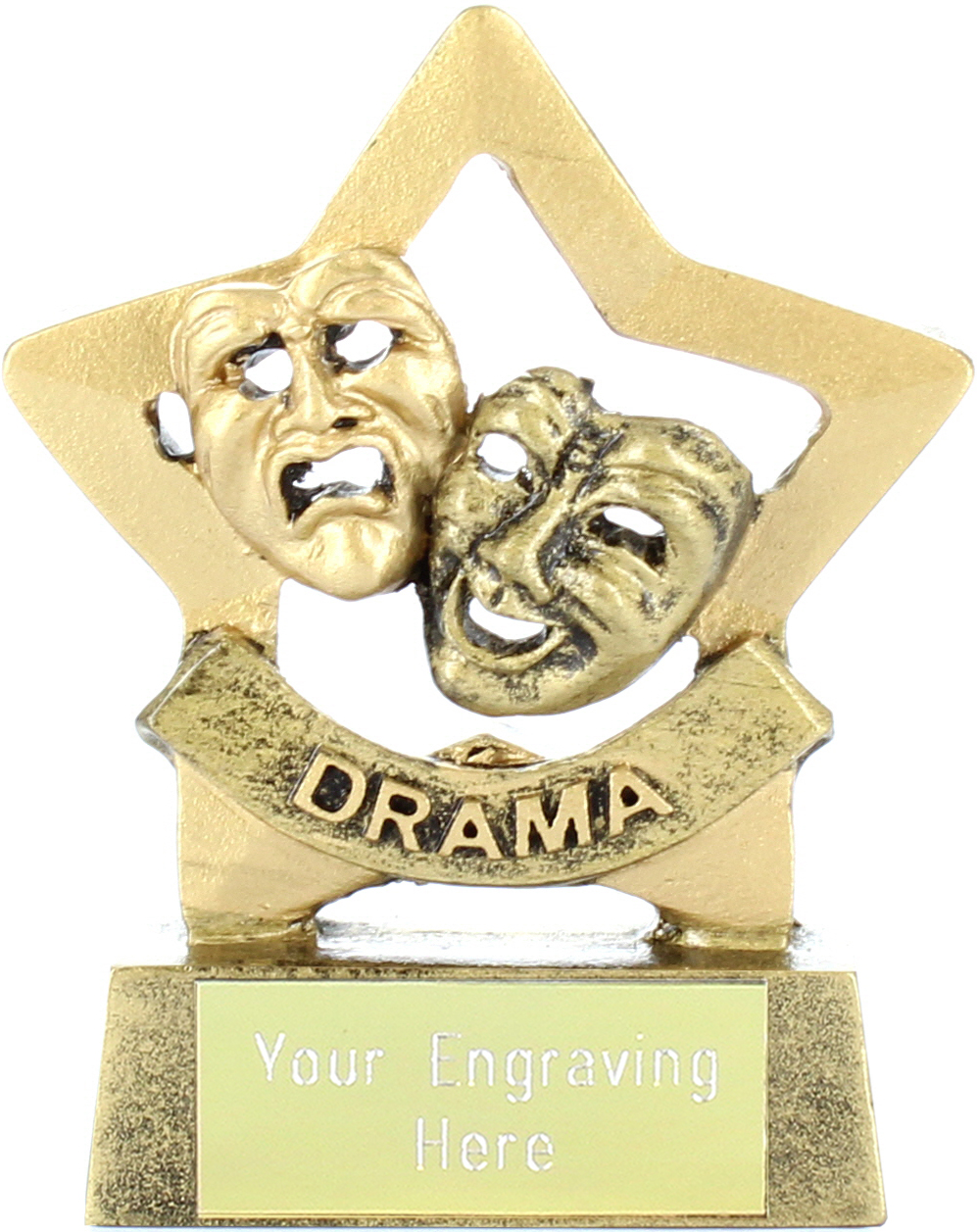 "Mini Stars Drama Award Trophy 8.5cm (3.25"")"