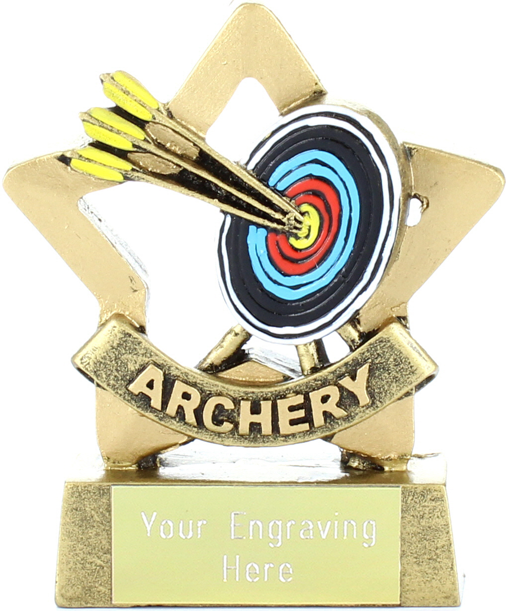 "Mini Stars Archery Award 8.5cm (3.25"")"
