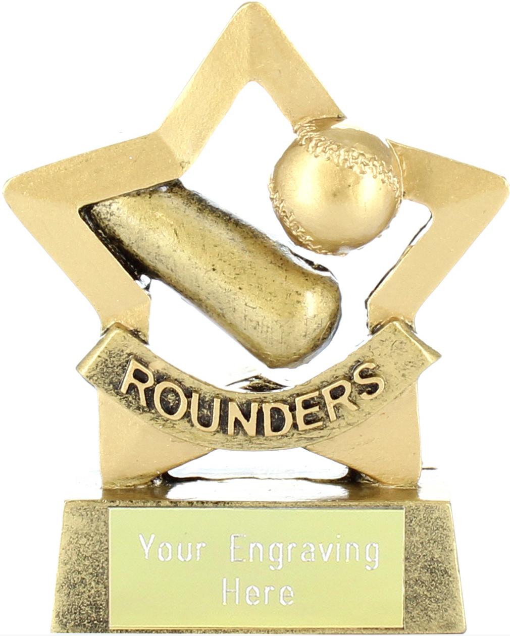 "Mini Stars Rounder's Award Trophy 8.5cm (3.25"")"
