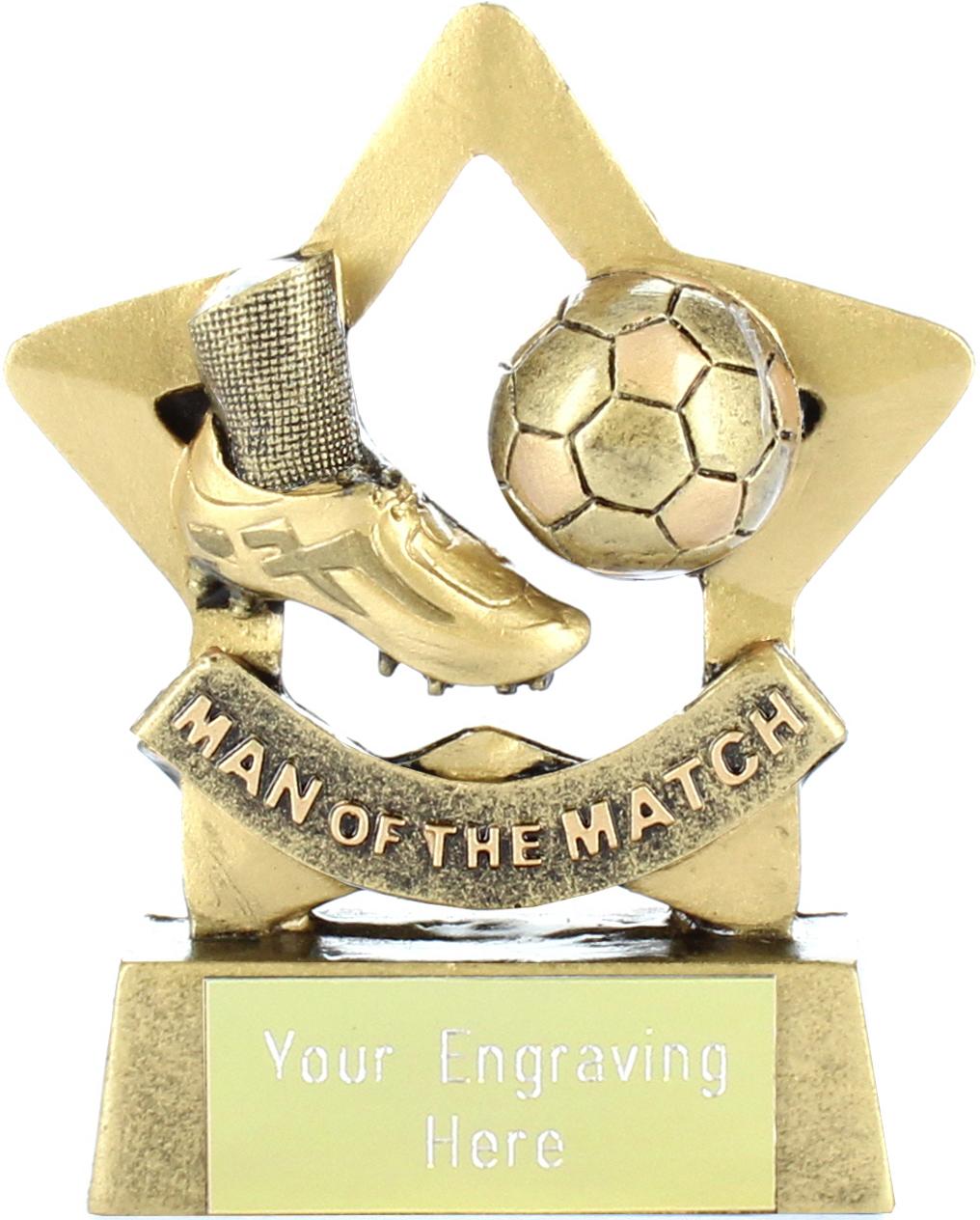 "Mini Star Man of the Match Trophy 8.5cm (3.25"")"