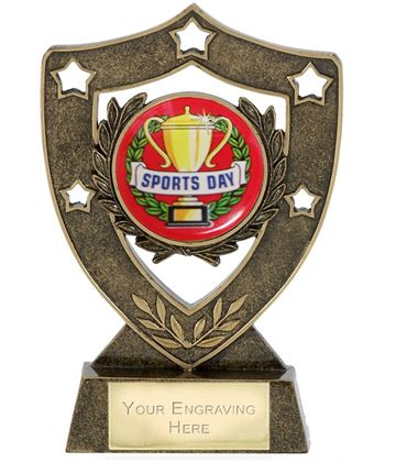 "Sports Day Shield Stars Trophy 15.5cm (6"")"