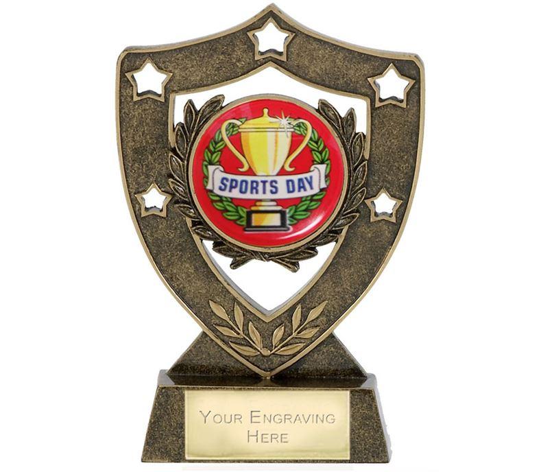 "Sports Day Shield Stars Trophy 12.5cm (5"")"