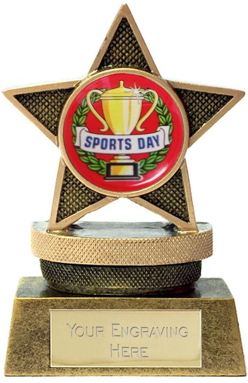 "Mini Star Sports Day Podium Trophy 7.5cm (3"")"