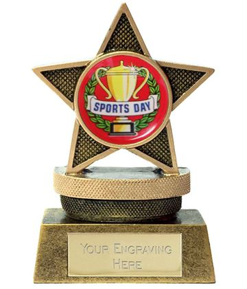 "Mini Star Sports Day Podium Trophy 7.5cm (3"")"