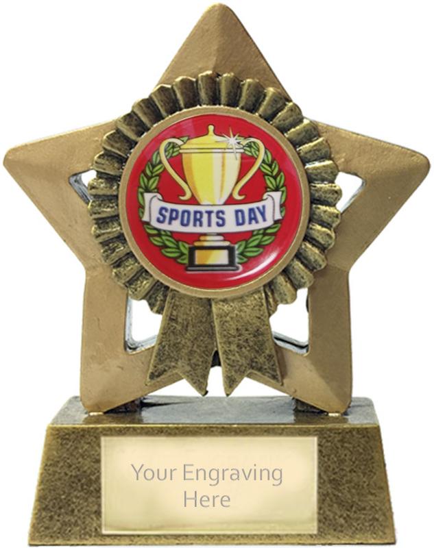 "Mini Star Sports Day Rosette Trophy 7.5cm (3"")"