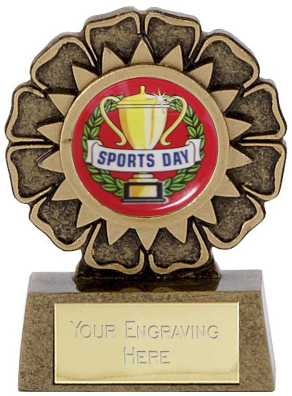 "Resin Mini Star Sports Day Rosette Trophy 6.5cm (2.5"")"