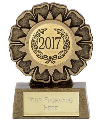"2017 Resin Mini Star Rosette Trophy 6.5cm (2.5"")"