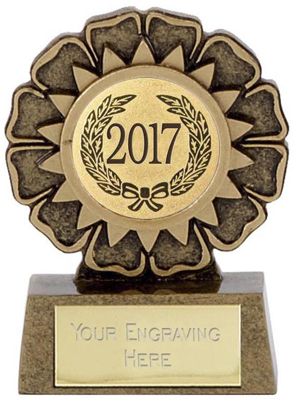 """2017 Resin Mini Star Rosette Trophy 6.5cm (2.5"""")"""