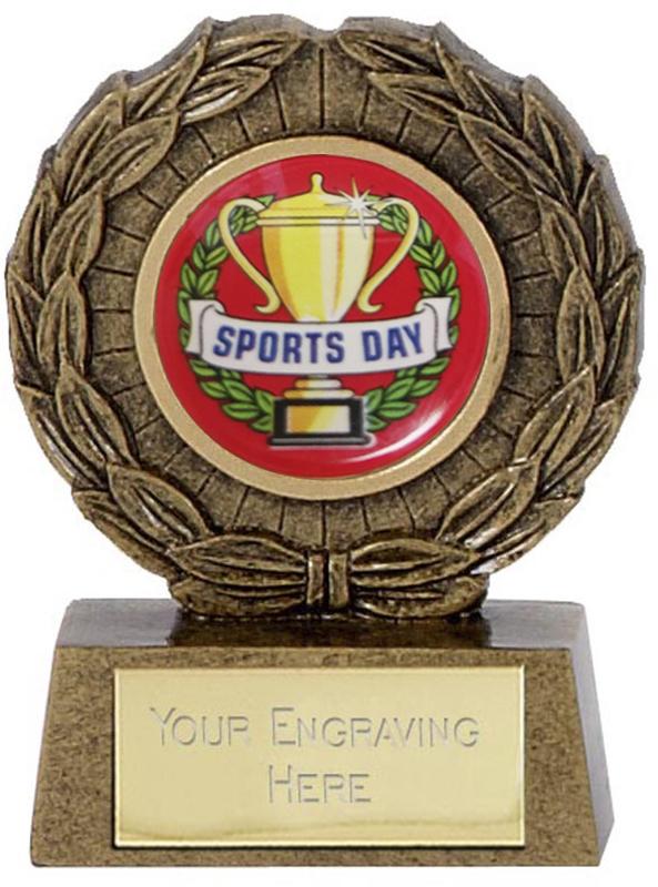 """Resin Mini Star Sports Day Laurel Wreath Trophy 6.5cm (2.5"""")"""