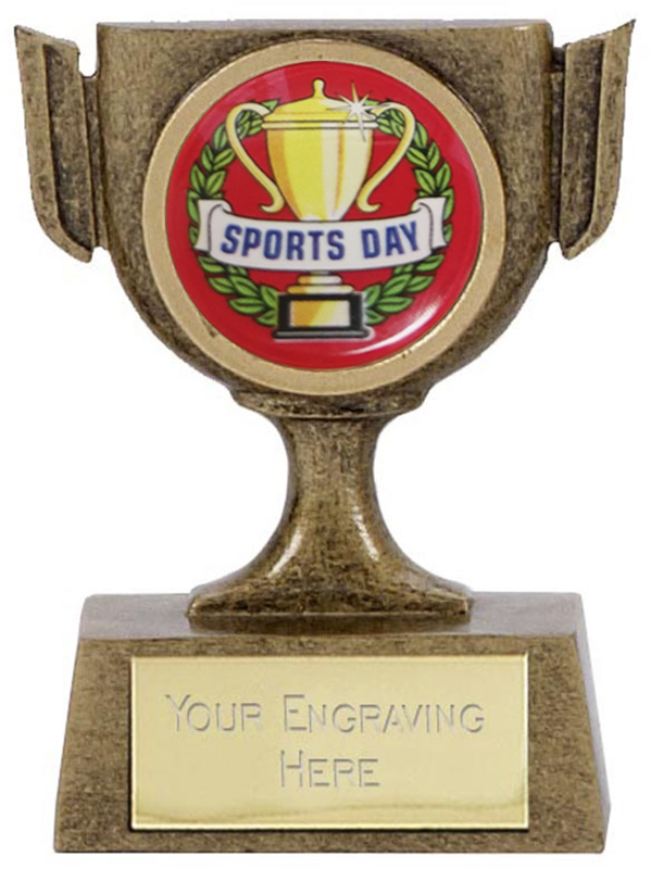 "Resin Mini Star Sports Day Cup Trophy 6.5cm (2.5"")"