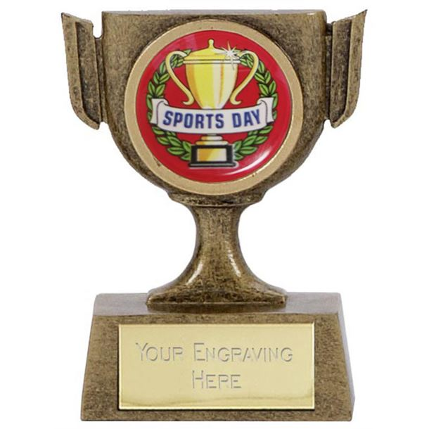 """Resin Mini Star Sports Day Cup Trophy 6.5cm (2.5"""")"""