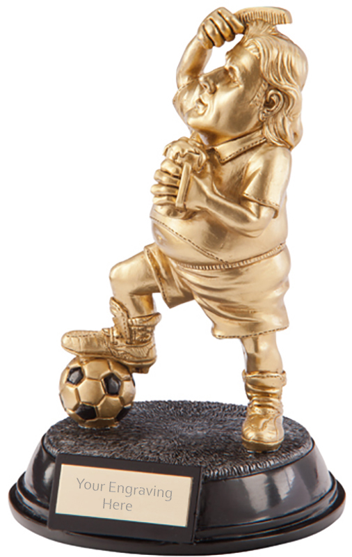 "Gold Resin Outrageous Beer Bellies Poser Trophy 16.5cm (6.5"")"