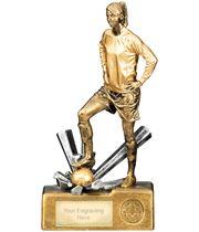 "Female Football Krypton Trophy 26cm (10.5"")"