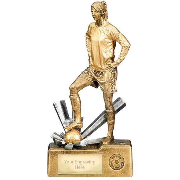 "Female Football Krypton Trophy 30cm (12"")"