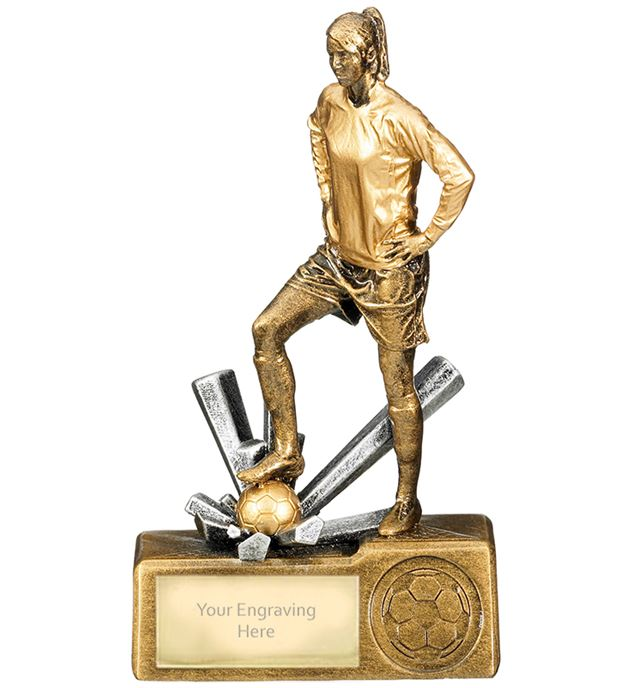 "Female Football Krypton Trophy 16cm (6.25"")"