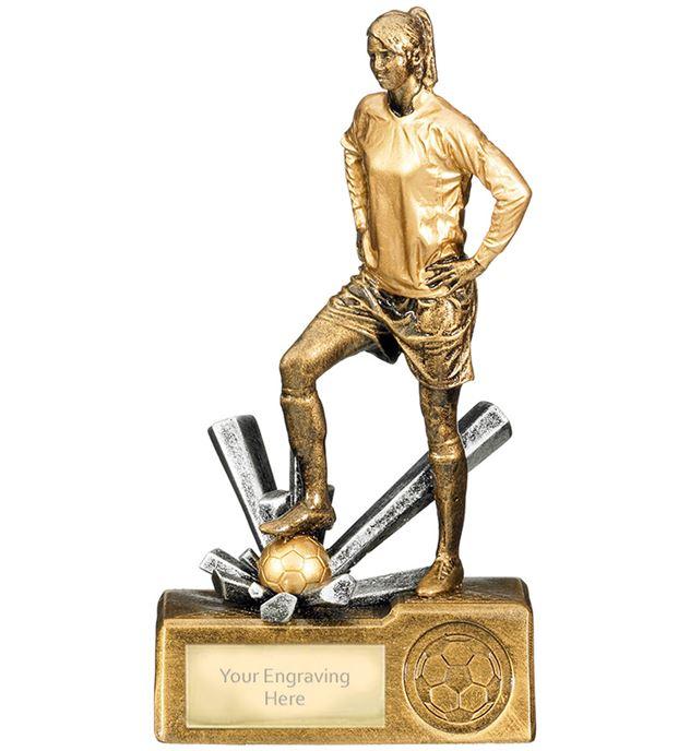 "Female Football Krypton Trophy 18cm (7"")"