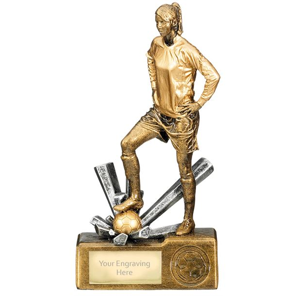 "Female Football Krypton Trophy 20cm (8"")"