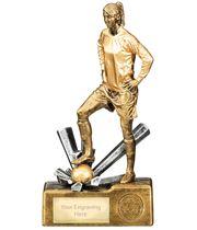 "Female Football Krypton Trophy 23cm (9"")"
