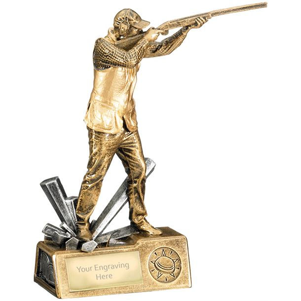 "Clay Shooting Male Krypton Trophy 21.5cm (8.5"")"
