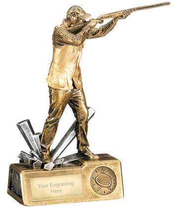 "Clay Shooting Male Krypton Trophy 18.5cm (7.25"")"