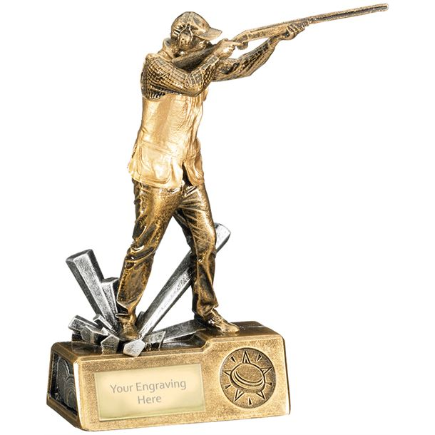 "Clay Shooting Male Krypton Trophy 18.5cm (7.25"")"