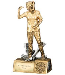 "Female Darts Krypton Trophy 18.5cm (7.25"")"