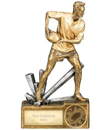 """Male Rugby Krypton Trophy 15cm (6.25"""")"""