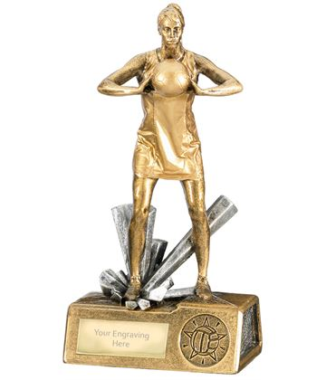 "Female Netball Krypton Trophy 19cm (7.5"")"