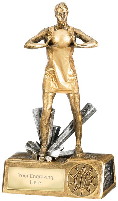 "Female Netball Krypton Trophy 16cm (6.25"")"