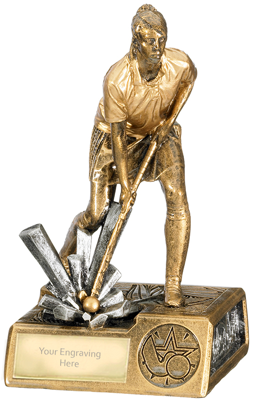 "Female Hockey Krypton Trophy 16cm (6.25"")"